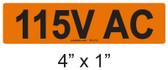 115V AC - PV Labels #30-212