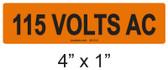 115 VOLTS AC - PV Labels #30-312