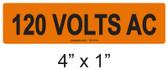 120 VOLTS AC - PV Labels #30-314