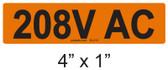 208V AC - PV Labels #30-218