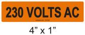 230 VOLTS AC - PV Labels #30-322