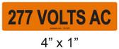 277 VOLTS AC - PV Labels #30-328