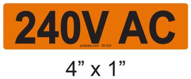 240V AC - PV Labels #30-224