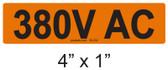 380V AC - PV Labels #30-232