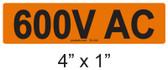 600V AC - PV Labels #30-244