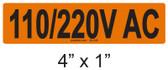 110/220V AC - PV Labels #30-246