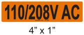 110/208V AC - PV Labels #30-256