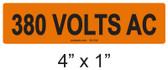 380 VOLTS AC - PV Labels #30-332