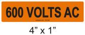 600 VOLTS AC - PV Labels #30-344