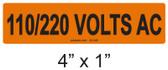 110/220 VOLTS AC - PV Labels #30-346