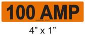 100 AMP Label - PV Labels #30-410