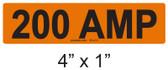200 AMP Label - PV Labels #30-412