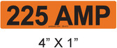 225 AMP Label - PV Labels #30-413
