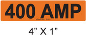 400 AMP Label - PV Labels #30-414