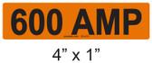 600 AMP Label - PV Labels #30-416