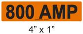800 AMP Label - PV Labels #30-418
