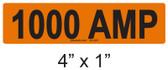 1000 AMP Label - PV Labels #30-420
