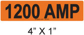 1200 AMP Label - PV Labels #30-422