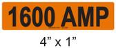 1600 AMP Label - PV Labels #30-436