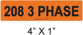 208 3 PHASE - PV Labels #30-510