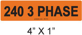 240 3 PHASE - PV Labels #30-512