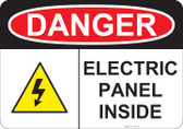 Danger Electric Panel Inside - #53-146 thru 70-146