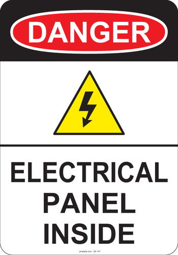 Danger Electric Panel Inside Osha Labels And Signs