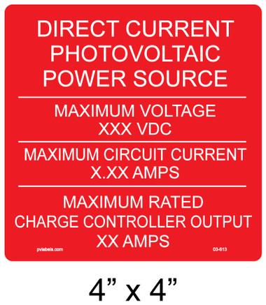 PV Labels - Custom Label #03-613