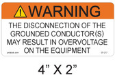 Warning Sign - .040 Aluminum - Item #07-217