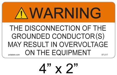 Warning Sign - .040 Aluminum - Item #07-217