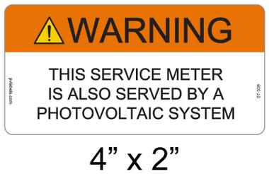 Warning Sign - .040 Aluminum - Item #07-359