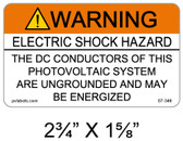 Warning Electric Shock Hazard - .040 Aluminum - Item #07-346