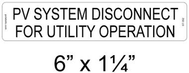 Pv System Disconnect - .040 Aluminum - Item #07-352