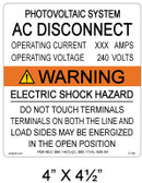 Warning Electric Shock Hazard - .040 Aluminum - Item #07-681