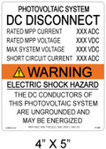 Warning Electric Shock Hazard - .040 Aluminum - Item #07-690