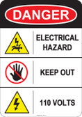 Danger Electrical Hazard, #53-211 thru 70-211