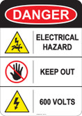Danger Electrical Hazard, #53-215 thru 70-215