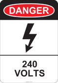 Danger 240 Volts, #53-217 thru 70-217