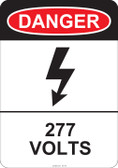 Danger 277 Volts, #53-218 thru 70-218
