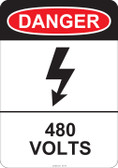 Danger 480 Volts, #53-219 thru 70-219