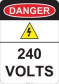 Danger 240 Volts, #53-222 thru 70-222