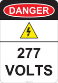 Danger 277 Volts, #53-223 thru 70-223