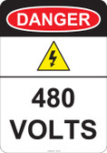 Danger 480 Volts, #53-224 thru 70-224