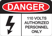 Danger Authorized Personnel Only, #53-226 thru 70-226