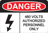 Danger Authorized Personnel Only - #53-229 thru 70-229