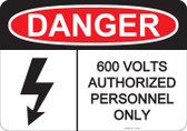 Danger Authorized Personnel Only - #53-230 thru 70-230