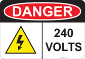 Danger 240 Volts - #53-232 thru 70-232