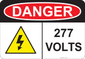 Danger 277 Volts - #53-233 thru 70-233