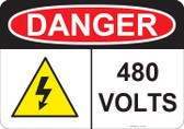 Danger 480 Volts - #53-234 thru 70-234