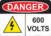 Danger 600 Volts - #53-235 thru 70-235